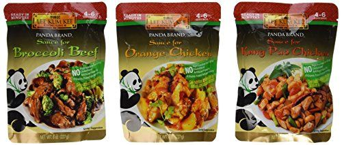 Panda Brand Ready In Minutes Asian Stir Fry Sauce 3 Flavor Variety Bundle 1 Broccoli Beef 1 Orange Chicken and 1 Kung Pao Chicken 8 Oz Ea 3 Pouches Total *** Want to know more, click on the image.Note:It is affiliate link to Amazon.