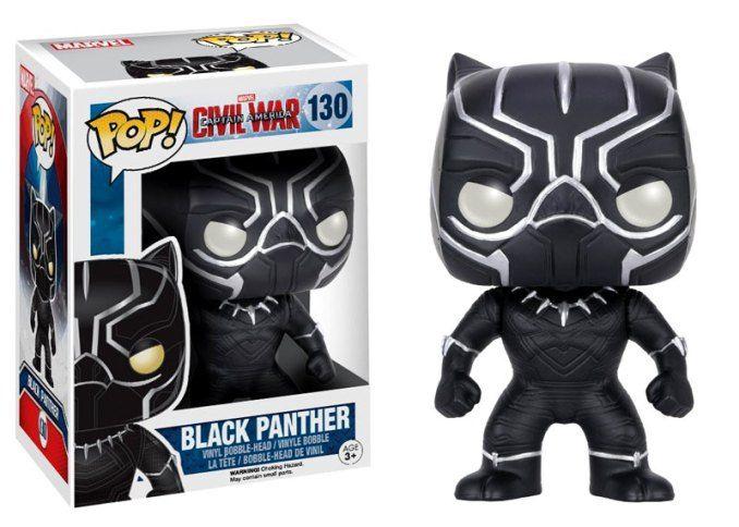 Funko POP Marvel: Captain America 3: Civil War Action Figure - Black Panther http://www.modishgeek.com/marvel-black-panther-tshirt-toys-figure/