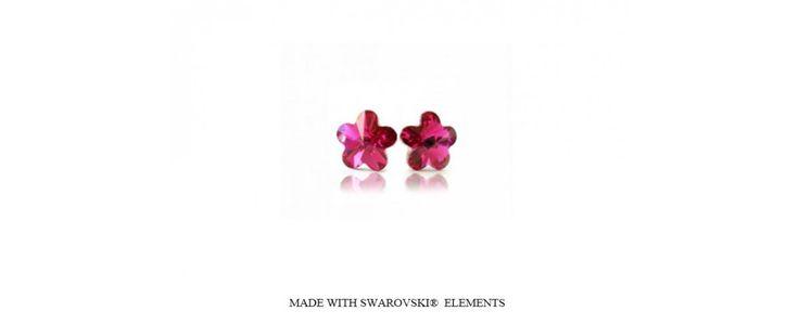 Swarovski virág alakú bedugós fülbevaló - Fülbevalók - Swarovski ékszerek - Ékszer Webshop - Csak1ékszer