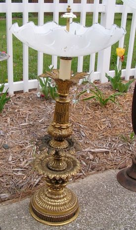Lamp Base Bird Baths | Projects, tip, techniques & creative ideas