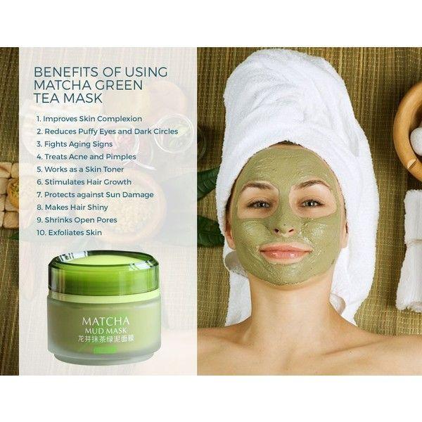 Matcha Green Tea Face Mask Organic Jiangsu Green Tea Matcha Facial 30 Liked On Polyvore Featu Green Tea Face Mask Glowing Skin Face Mask Mud Face Mask