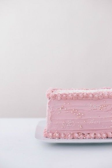 Rectangle Cake with Vanilla Buttercream | Handmade Charlotte