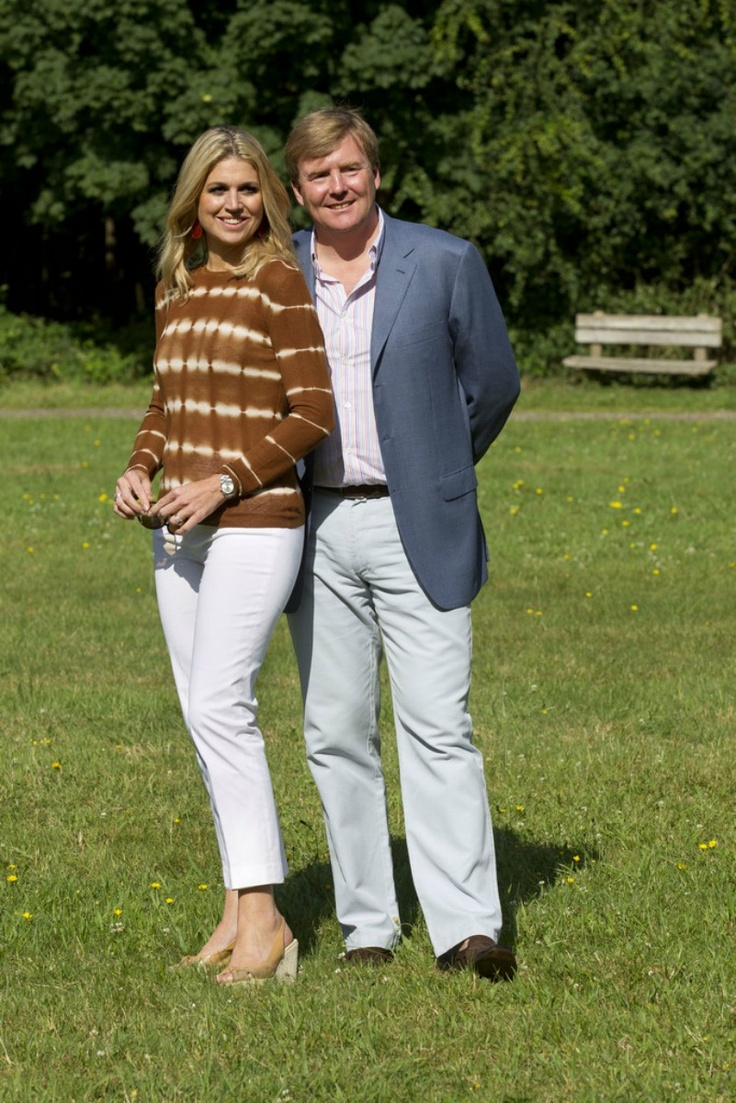 PRİNCE WİLLEM ALEXANDER and PRİNCESS MAXİMA of the Netherlands on holiday