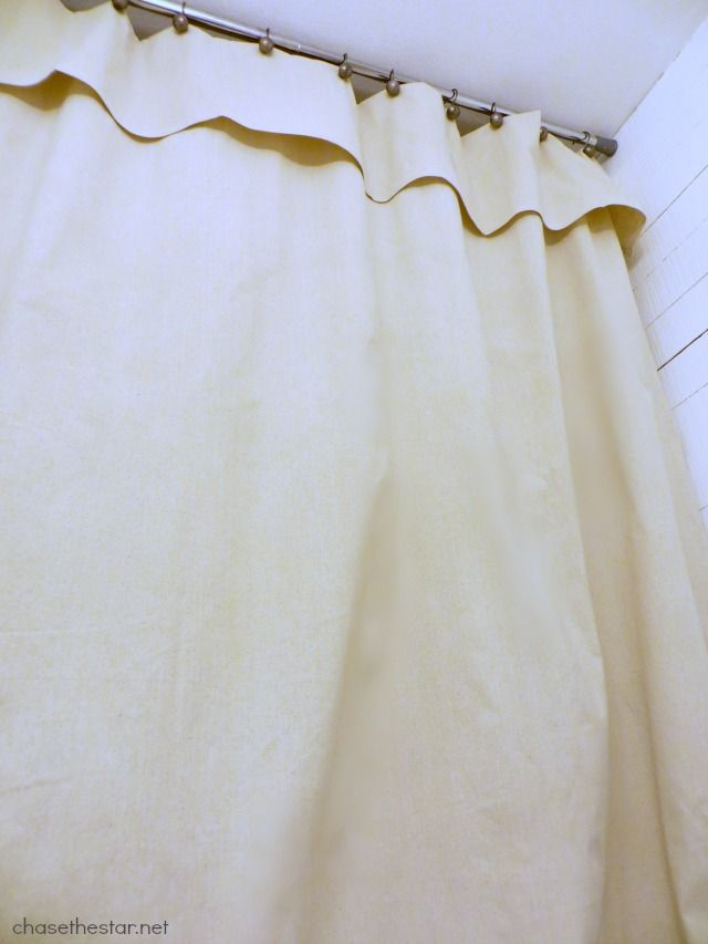 Guest Bath Update Diy A Shower Curtain With A Drop Cloth Via Chase The Star Kleenexstyle