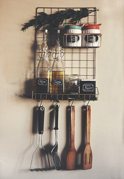 $6 Kitchen Organizer | Daiso | DIY | Kitchen Decor