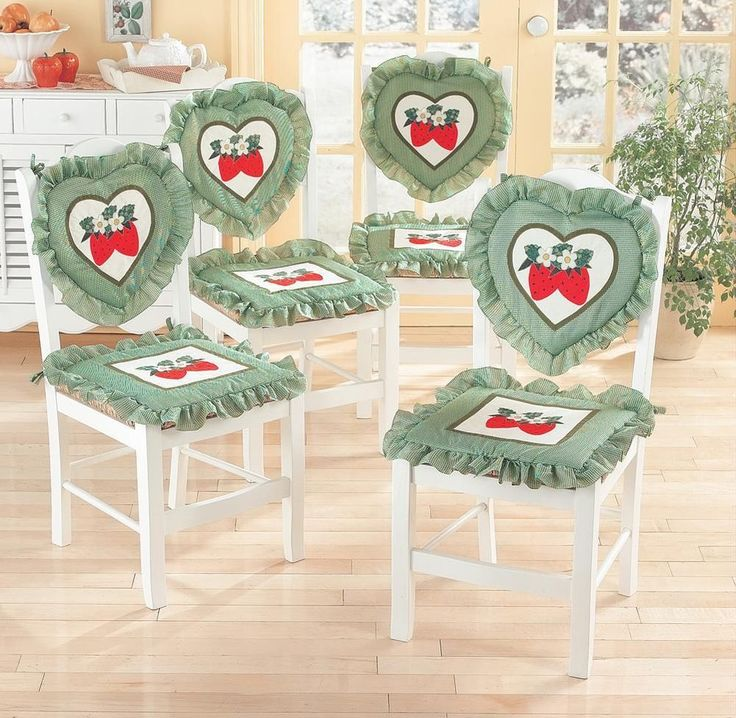 Strawberry Kitchen Chair Cushions