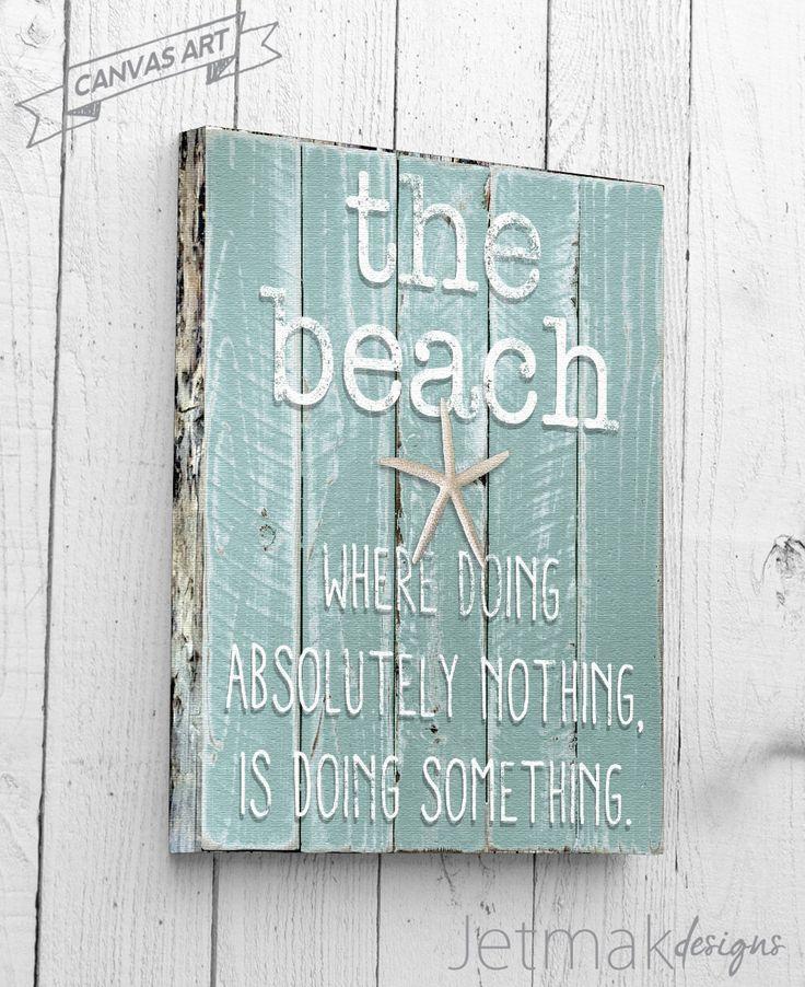 Beach Wall Decor, Beach Wall Art, Ocean Decor, Beach Decor Canvas Art, Nautical Decor, Driftwood Beach Decor, Beach Art, Coastal Decor Print by JetmakDesigns on Etsy https://www.etsy.com/listing/209931603/beach-wall-decor-beach-wall-art-ocean
