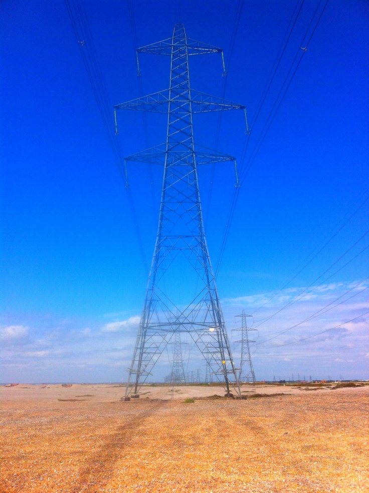 Pylons at Dungeness Nuclear Power Station