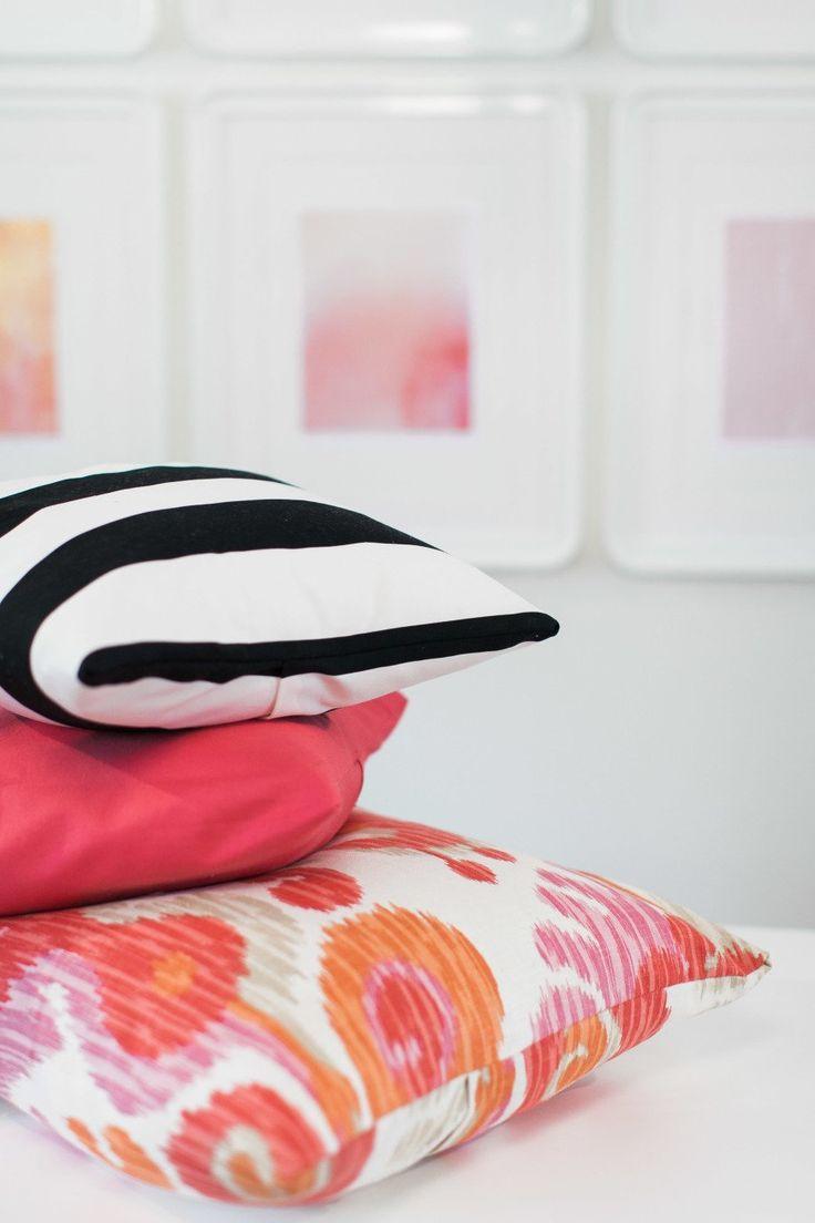No-Sew Throw Pillows