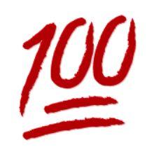 symbole centaine de points