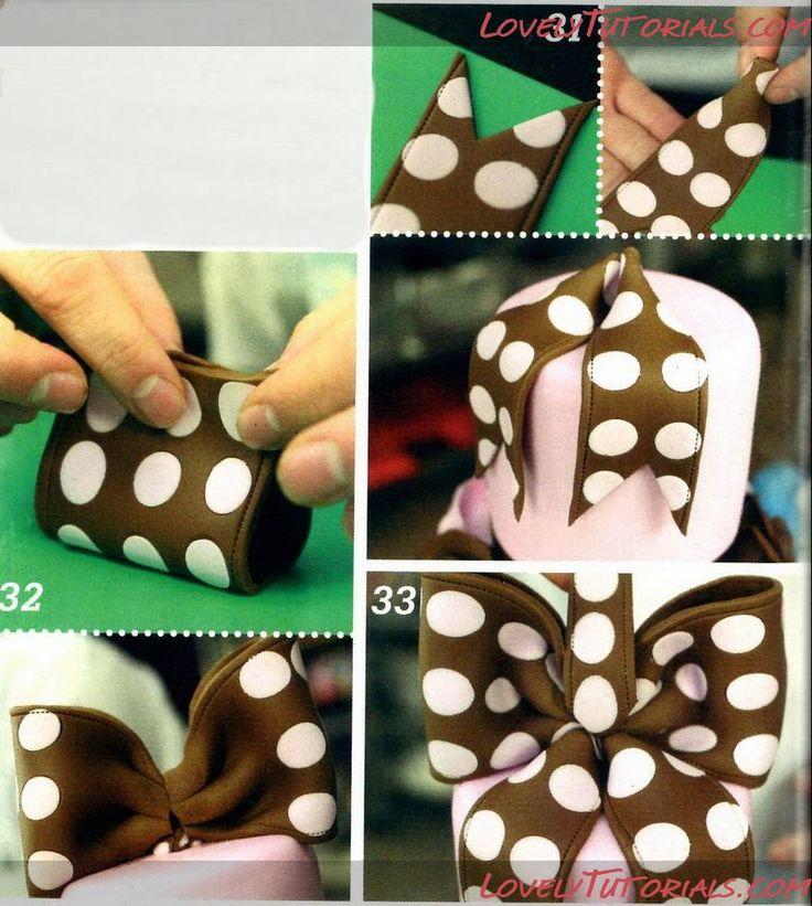 МК Многоярусный торт с бантиком в горошек-Tiered Cakes with bow step by step - Мастер-классы по украшению торто