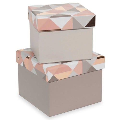 2 boîtes en carton L11 et L13 cm MODERN COOPER