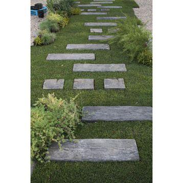 Dalle de cheminement stonewood en b ton cm - Dalles de jardin en beton ...