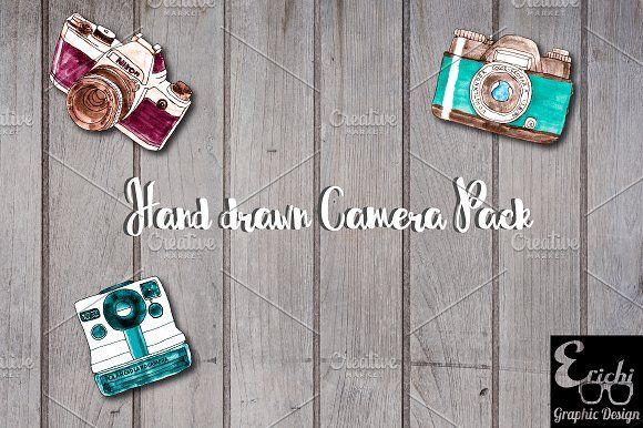 Hand Drawn Camera Pack by Erichi on @creativemarket