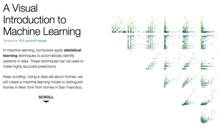 A Visual Introduction to Machine Learning  ||  Machine learning is the science of getting computers to act without being explicitly programmed. In the past decade, machine learning has given us self-driving cars, practical speech recognition, effective web search, and a vastly improved understanding of the human genome. It will play a big part in the IoT.From our friends at R2D3 is a very interesting visual introduction to…