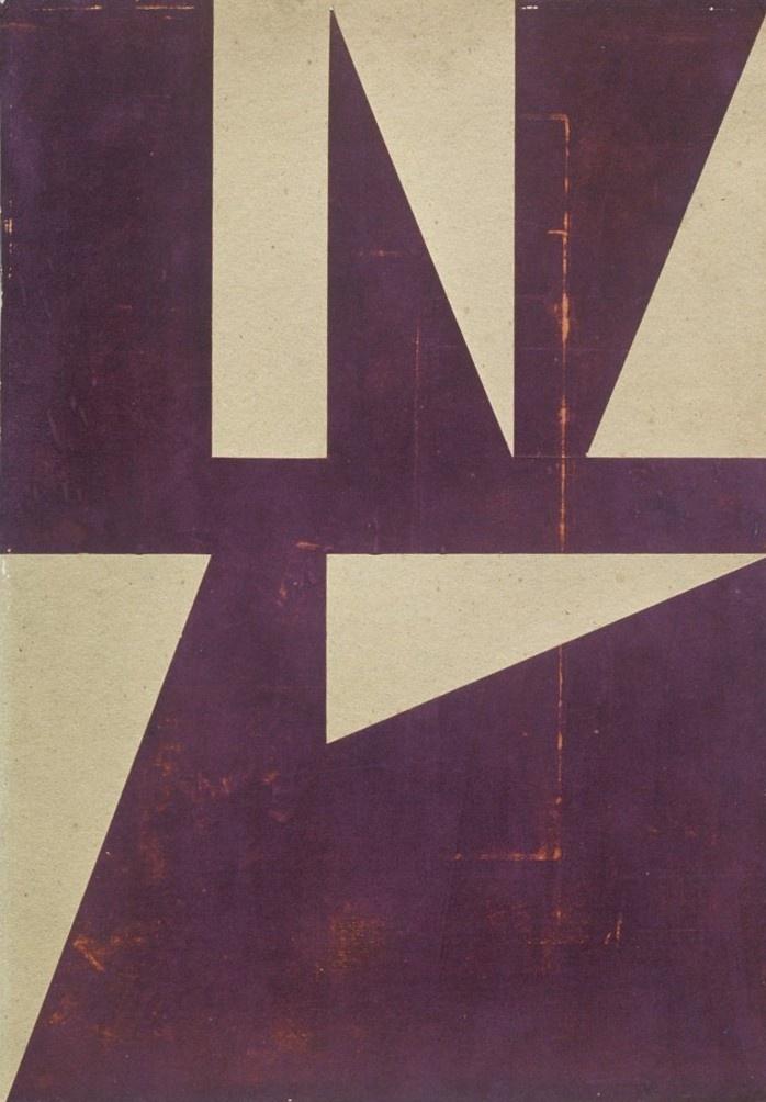Fernando Lanhas, Sem título, 1950. Colagem. 48 x 69 cm.