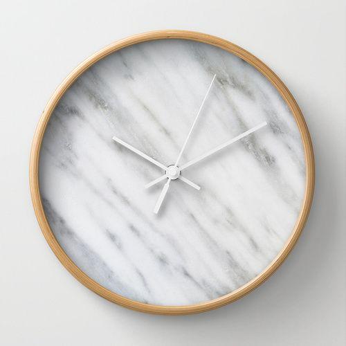 Carrara italian marble wall clock casa pinterest for Concepto de marmol