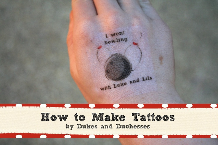 a bowling party how to make tattoos duke make your and make your own tattoo. Black Bedroom Furniture Sets. Home Design Ideas