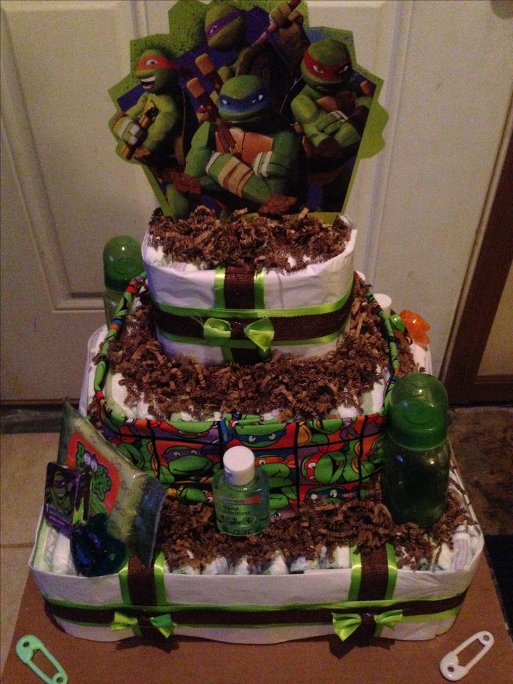 Teenage Mutant Ninja Turtles Diaper Cake