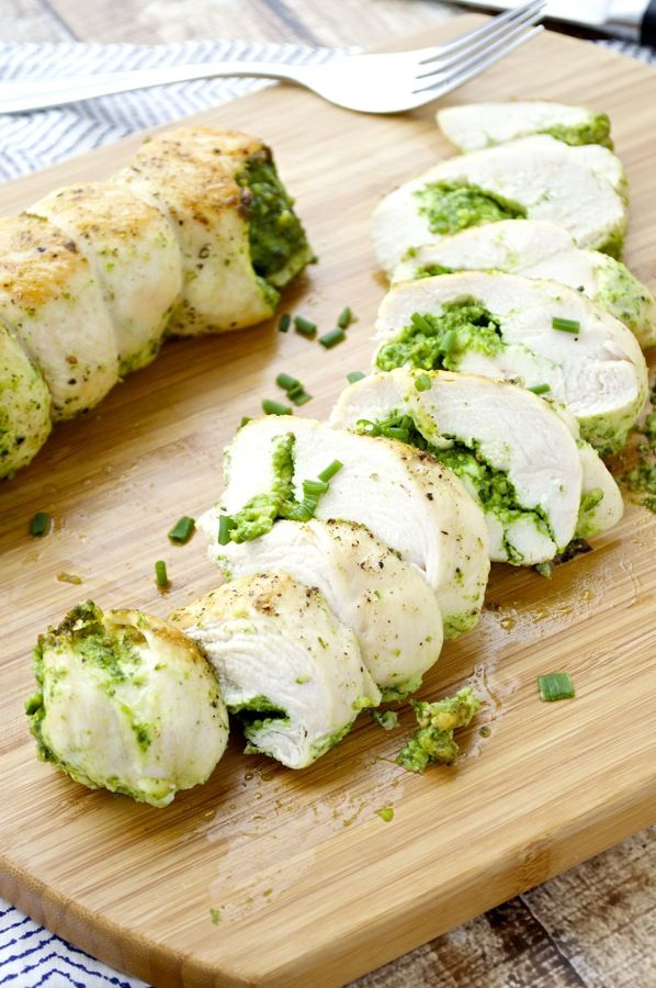 Pesto Stuffed Chicken Breasts - Fashionable Foods