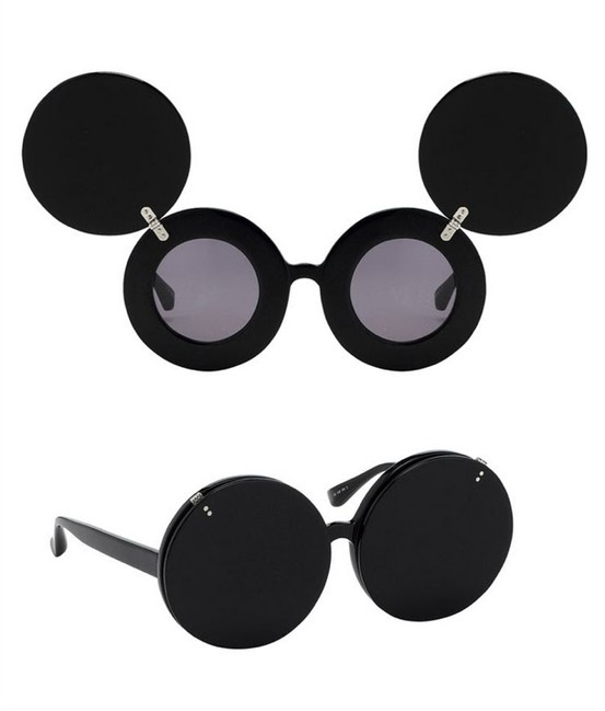 Mickey Flip Sunglasses / linda farrow x jeremy scott