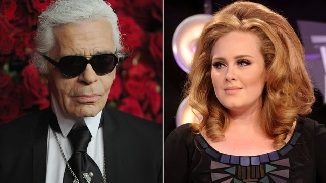 Karl Lagerfeld Is Very Sorry He Called Adele Fat (claims his statement was taken out of context -.- not buying it)