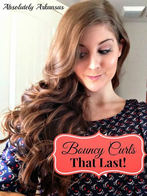 How to create big bouncy curls that LAST! A great way to ensure they don't fall flat until you wash your hair! Super easy & quick too. :).