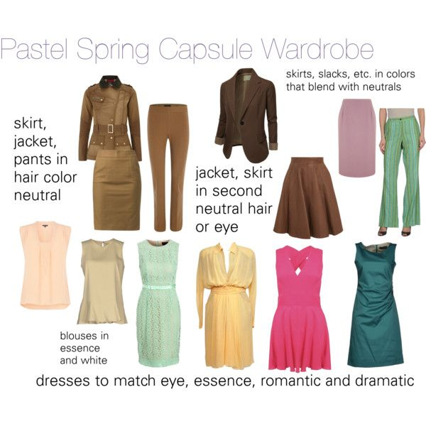 """Pastel Spring Wardrobe"" by expressingyourtruth on ..."