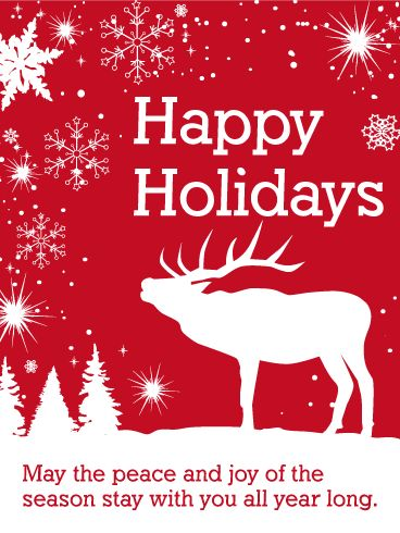 61 best seasons greetings cards images on pinterest anniversary send free white reindeer happy holidays card to loved ones on birthday greeting cards by davia its free and you also can use your own customized m4hsunfo Images