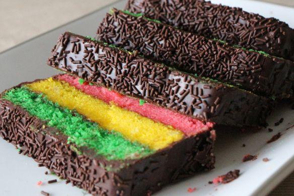 Italian Rainbow Cookie Cake