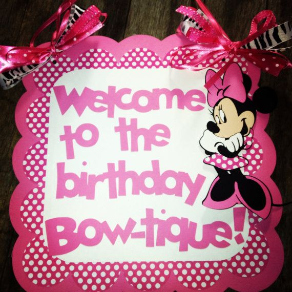 Minnie Mouse birthday door sign
