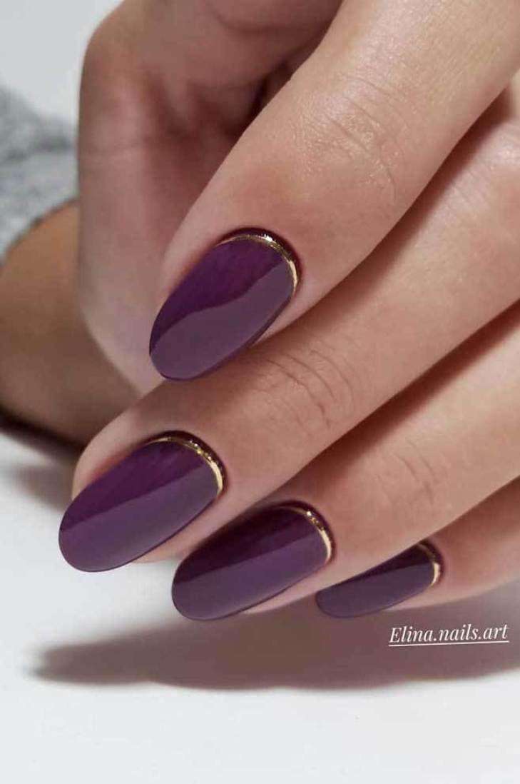 39 Trendy Fall Nails Art Designs Ideas To Look Charming Autumn Nail Art Ideas Fallnails Autumnnails Fallna Shellac Nail Designs Trendy Nails Purple Nails