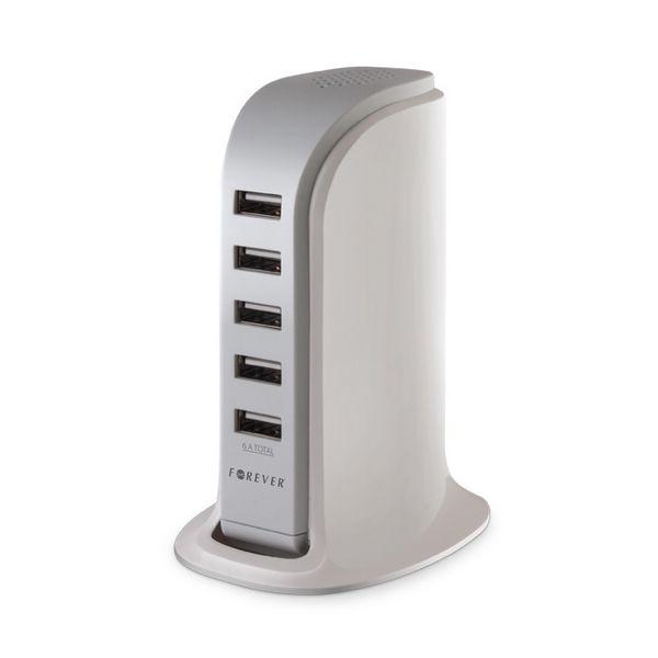 Chargeur bureau 5 ports USB pour smartphone