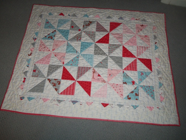 Baby quilt using charm pack and pattern from Moda Bake Shop Quilting Pinterest Shops ...