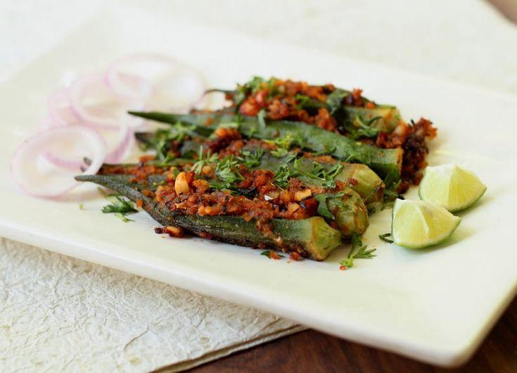 Recipe for karale (कारळे) /Khurasni(खुरसणी)/ Niger seeds chutney and Bhindi/Okra stuffed with the chutney