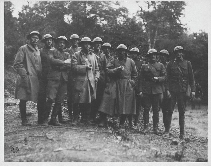 Belleau Wood Sector, Officers of 2nd Battalion, 6th Marine, June 18, 1918 | Lt(JG) Gordon Grimland Medical Corps USN, Lt George WHITE Medical Corps USN, 1/Lt Graves B. Erskine USMC, Capt Egbert V. Lloyd USMC, Capt Randolph T. Zane USMC, Major Thomas Holcomb USMC, 1/Lt Clifton B. Cates USMC, Capt Bailey M. Coffenberg USMC , 1/Lt Emmons J. Stockwell US Army, 1/Lt Amos Shinkle USMC, 1/Lt John W. Overton USMC, 1/Lt John G. Schneider USMC