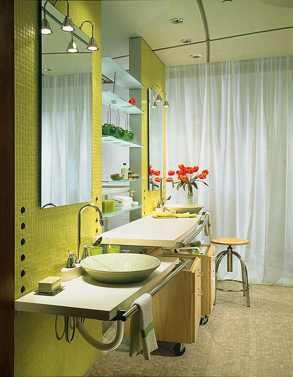 universal design bathroom lots of flexibility here it would be great if the mirrors - Universal Design Bathrooms