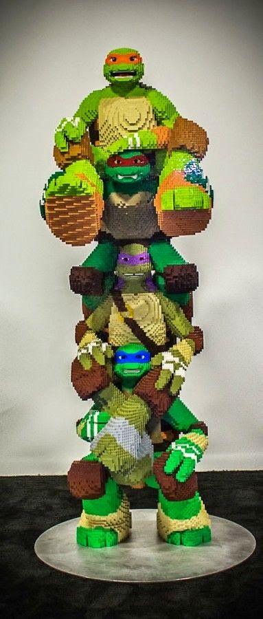 El desván del Freak: Las Tortugas Ninja, a base de piezas de construcción.