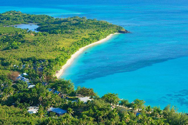 La laguna Azul de la foto se ubica en la isla Nacula, en Fiji.