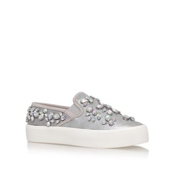 Luxor Silver Flat Low Top Trainers from Carvela Kurt Geiger