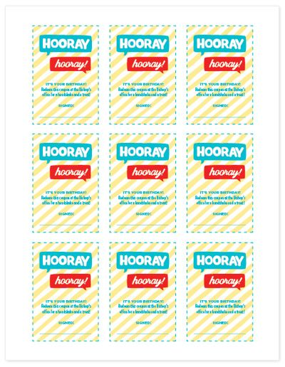 Coupons for your boyfriend's birthday