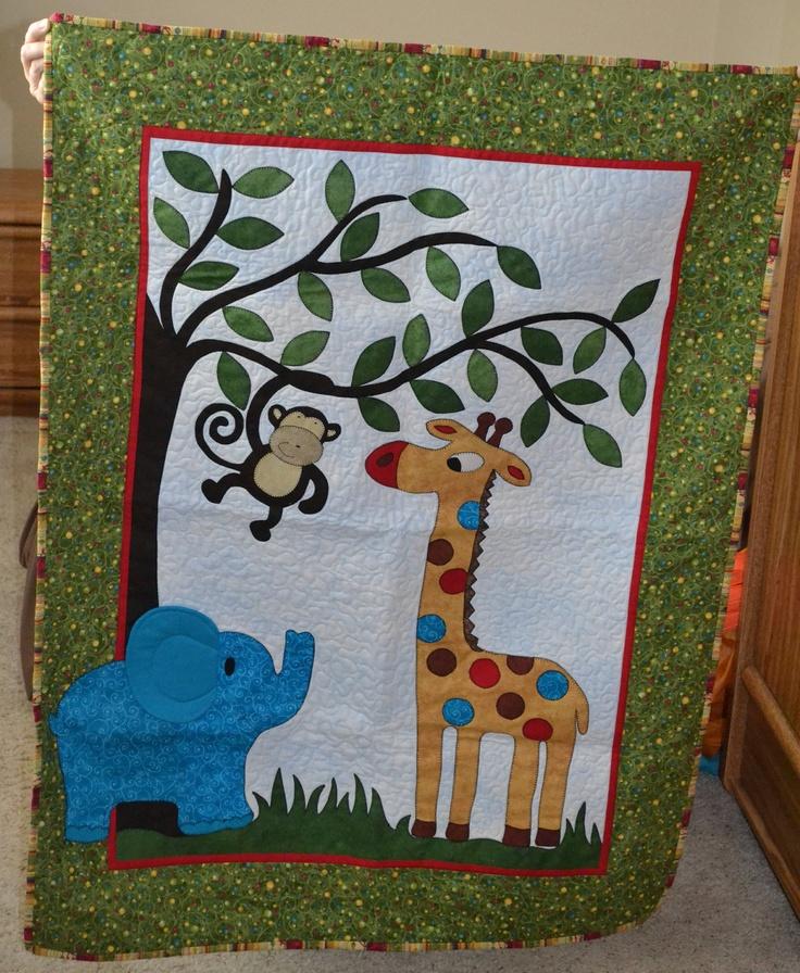 Jungle Quilt. $80.00, via Etsy.