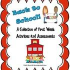 "This pack contains a collection of first week activities including Math and language arts based worksheets as well as ""Get To Know You"" activities...."