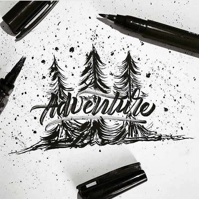 Adventure this weekend by @typebychris #designspiration #creative #art #design #lettering - View this Instagram https://www.instagram.com/Designspiration/