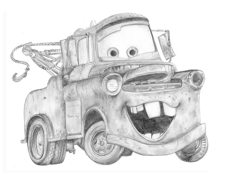 Pencil Drawings Of Old Cars Mater By Invisiblesnow On