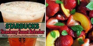 Strawberry Sunset Refresher   Starbucks Secret Menu