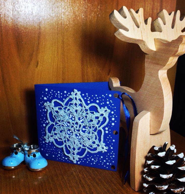 """Замовляйте новорічні  листівочки ручної роботи ❄️ Gift card ~ hand-made. """"Blue Snowflake""""❄️ Виконаю усі побажання на ваш смак! Доставка по Україні ❄️ @annas_art_shop обращайтесь, заказывайте, приобретайте сертификаты на индивидуальные мастер классы или на товары дарите родным праздник! (РИСУЮ НА ЗАКАЗ, товары ручной работы, эскизы, иллюстрации, художественные картины, открытки, приглашения, визитки, постеры, роспись стен и многое другое) ЖДУ ВАШИХ ПРЕДЛОЖЕНИЙ!!! #ОКРЫТКИ #открыткиназаказ"""
