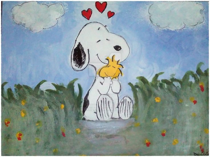 Snoopy and Woodstock by HTChili.deviantart.com on @DeviantArt