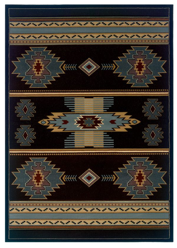 Delectably-Yours.com CEM Native Canvas Blue Southwestern Rug United Weavers Designer Contours Rugs