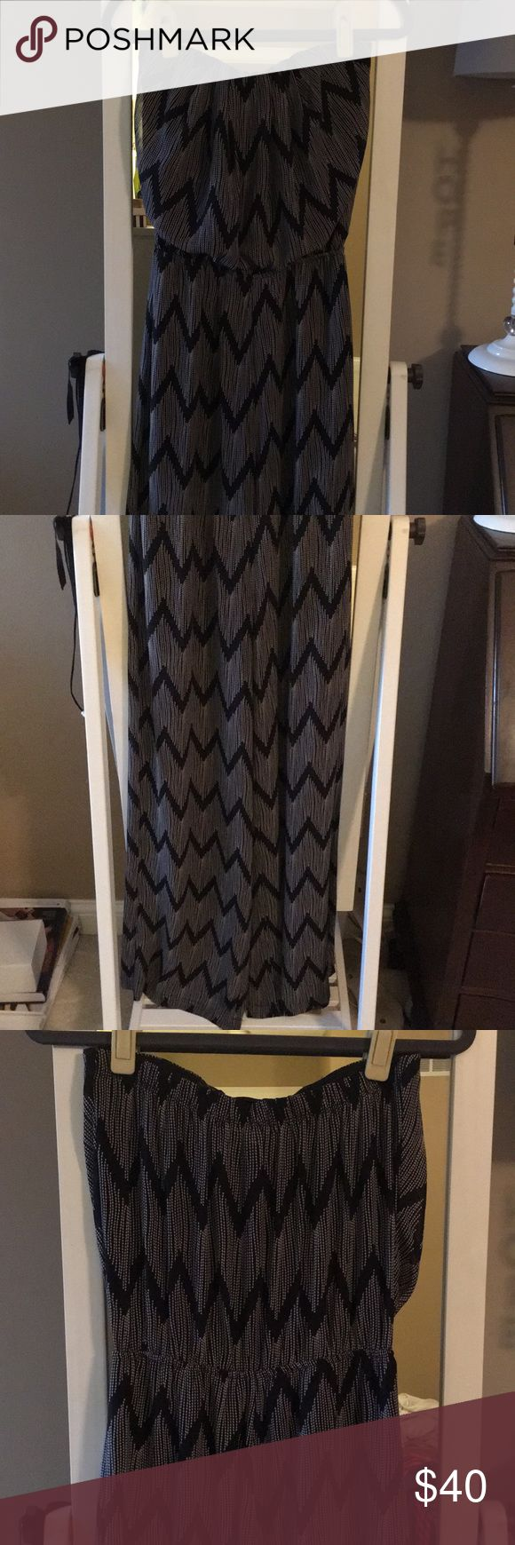 """Pants suit Super cute black and white pants romper! From a boutique. Strapless, only worn a couple times. Elastic gathering at the waist. I am 5'4"""" and had to wear heels with it (legs of it are long). Ya Los Angeles Other"""